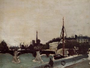 Henri Emilien Rousseau - Notre Dame - View of the Ile Saint-Louis (Study)
