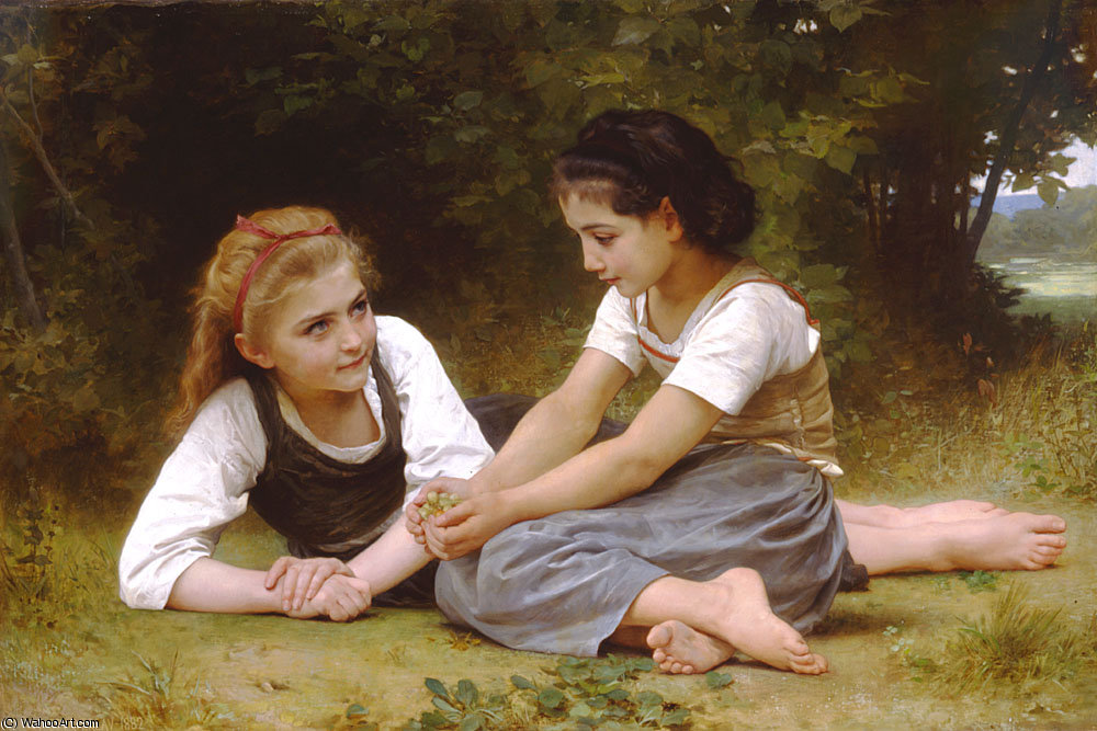 Order Museum Quality Copies | Les noisettes by William Adolphe Bouguereau | Most-Famous-Paintings.com