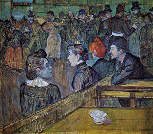 Henri De Toulouse Lautrec - At the Moulin de la Galette Dance Hall