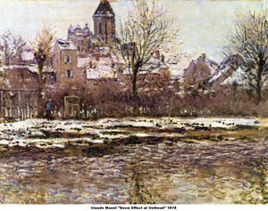 Claude Monet - Snow Effect at Vetheuil,