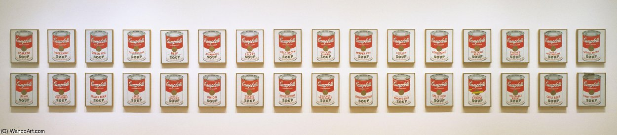| Campbell's soup cans by Andy Warhol | Most-Famous-Paintings.com