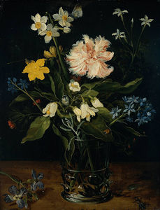 Jan Brueghel The Elder - Still Life with Flowers in a Glass