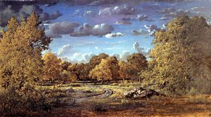 Théodore Rousseau (Pierre Etienne Théodore Rousseau) - Glade of the Reine Blanche in the Fontainebleau Forest