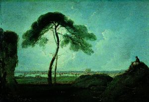 Richard Wilson - Italian Landscape with a Stone Pine