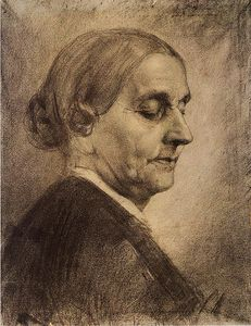 Albin Egger Lienz - Model study, Old woman, half profile
