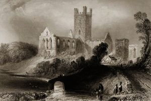 William Henry Bartlett - Jerpoint abbey