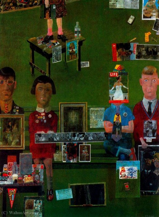 | On the Balcony by Peter Blake | Most-Famous-Paintings.com