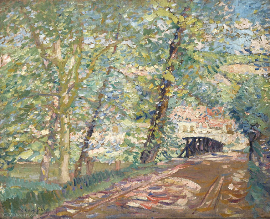 famous painting The Bridge to the Artist's House, (1911) of Karl Albert Buehr