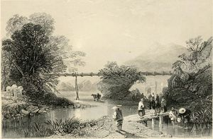 Thomas Allom - Bamboo Aqueduct at Hong Kong