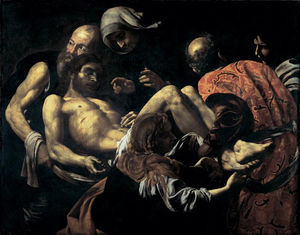 Giovanni Battista Caracciolo - Dead Christ carried to the grave