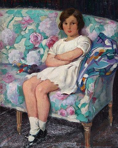 Order Reproductions | A young girl with by Harry John Pearson | Most-Famous-Paintings.com