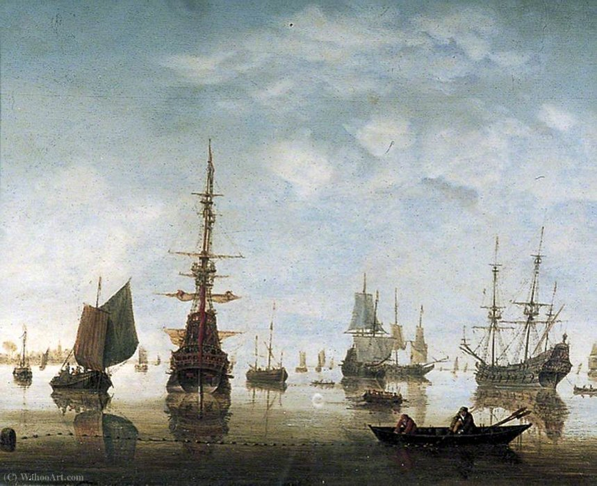 Order Paintings Reproductions | Seascape by Hendrik Jakobsz Dubbels | Most-Famous-Paintings.com