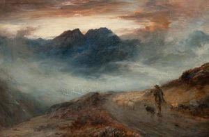 John Macwhirter - Mist on the Mountains