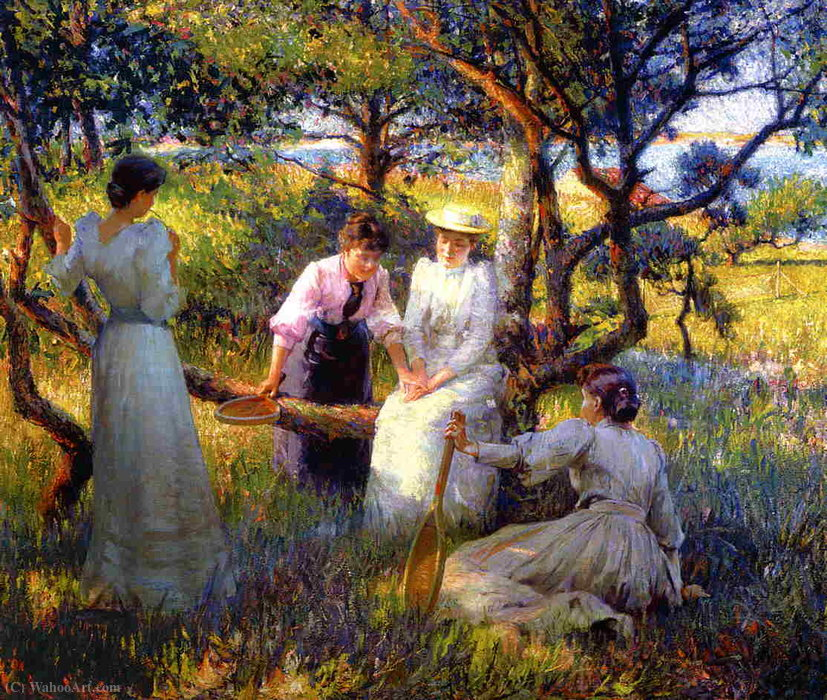 famous painting The ring of Robert William Vonnoh