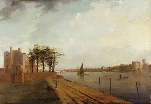 Samuel Scott - Lambeth Palace from Millbank, London