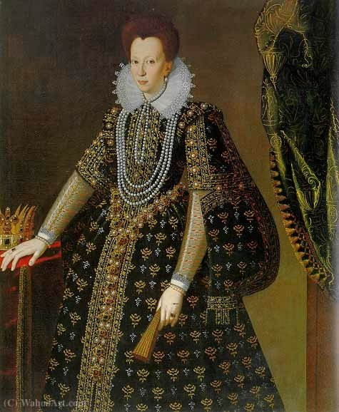 famous painting Portrait of Christine of Lorraine of Santi Di Tito