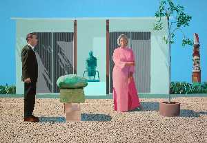 David Hockney - American Collectors (Fred and Marcia Weisman)