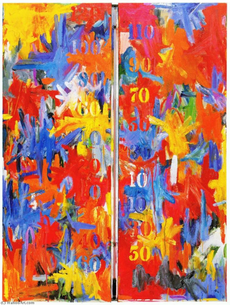 | False start by Jasper Johns | Most-Famous-Paintings.com