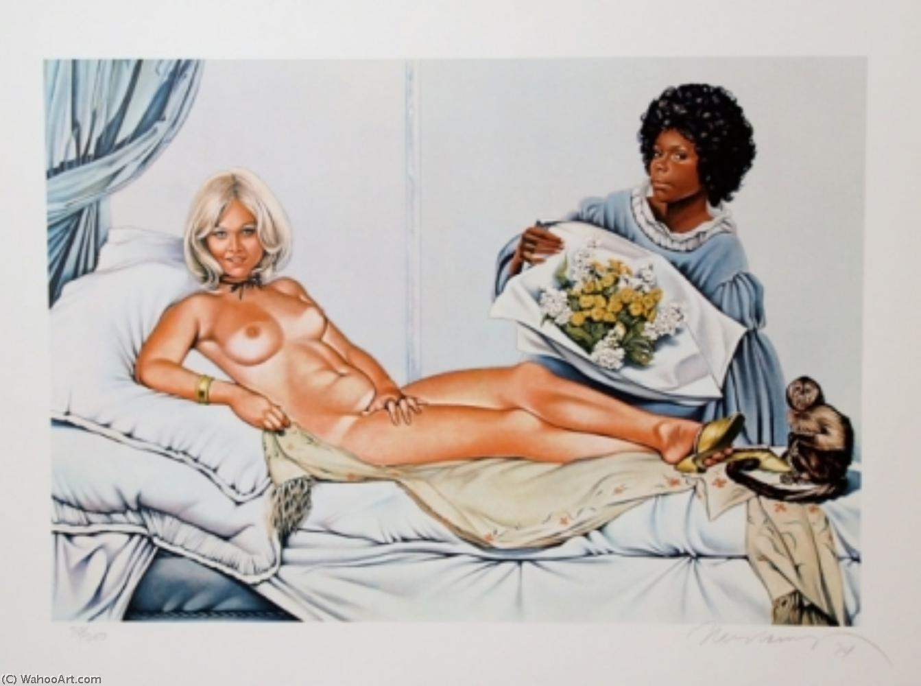 famous painting Manet's olympia of Mel Ramos