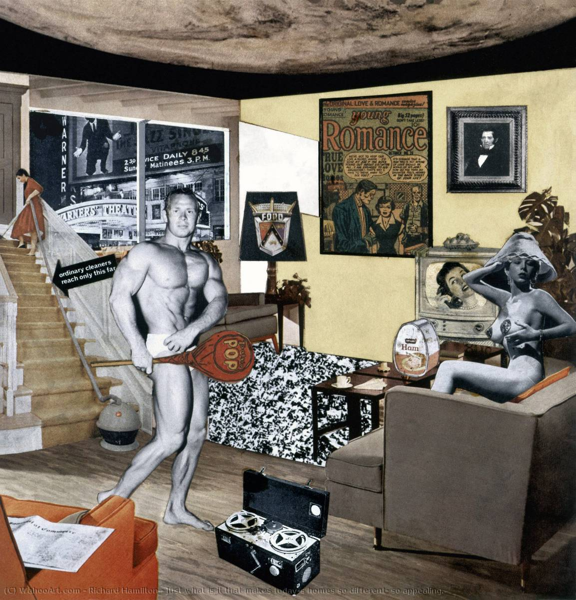 famous painting Just what is it that makes today's homes so different, so appealing. of Richard Hamilton