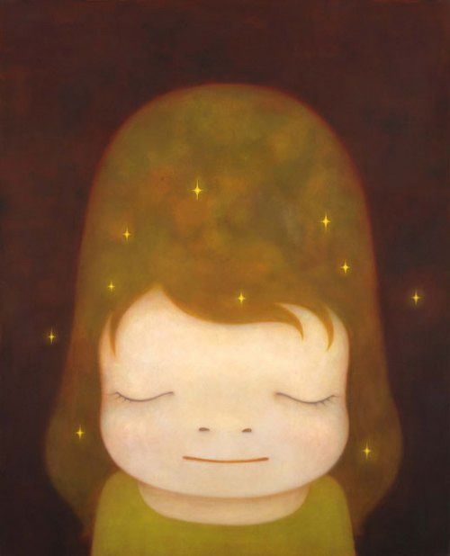 | The little star dweller by Yoshitomo Nara | Most-Famous-Paintings.com