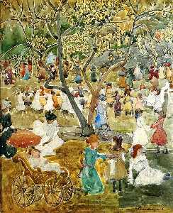 Maurice Brazil Prendergast - May Party (also known as May Day, Central Park)