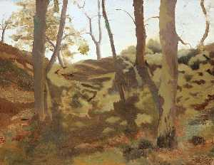 Ramon Casas Carbó - Landscape with Trees