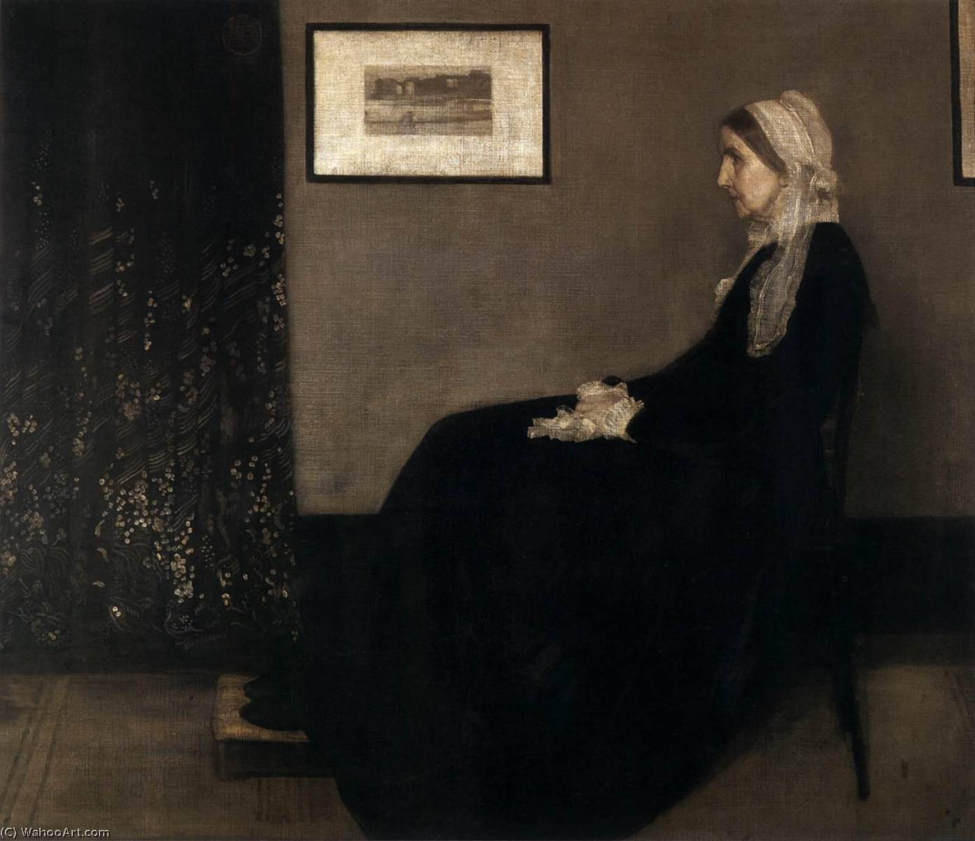 famous painting The Artist's Mother of James Abbott Mcneill Whistler