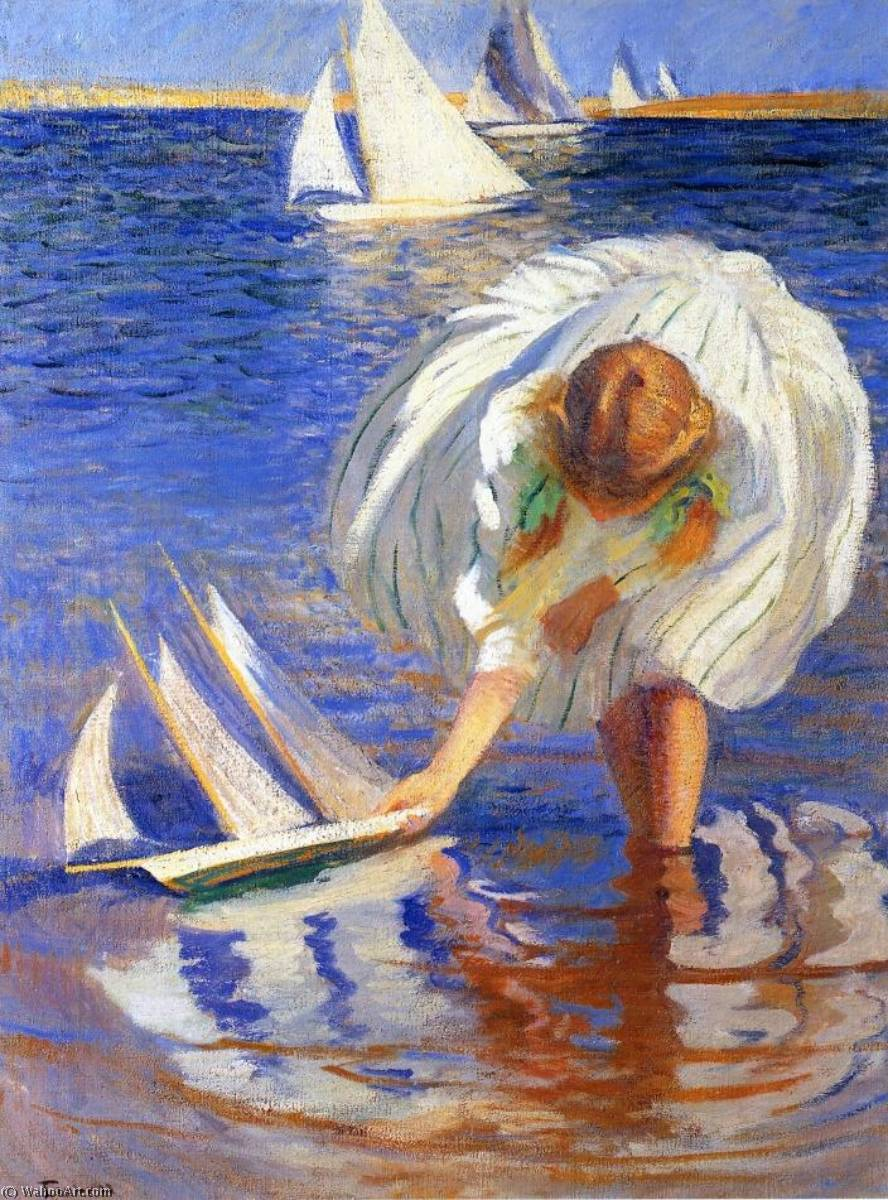Girl with Sailboat (also known as Child with Boat) by Edmund