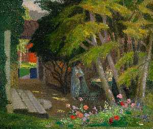 Georg Pauli - Garden with a woman