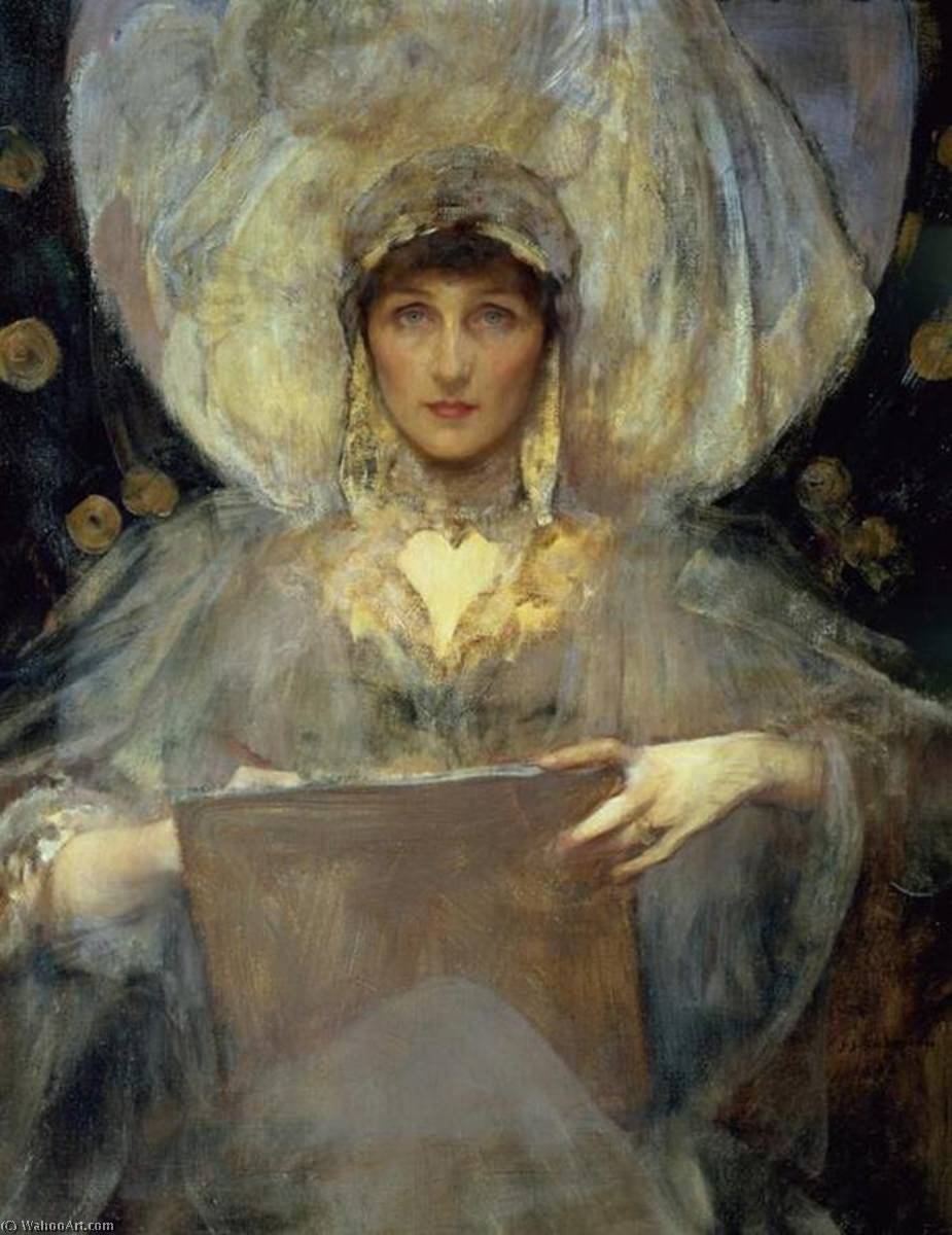 famous painting Lady Violet, The Duchess of Rutland of James Jebusa Shannon