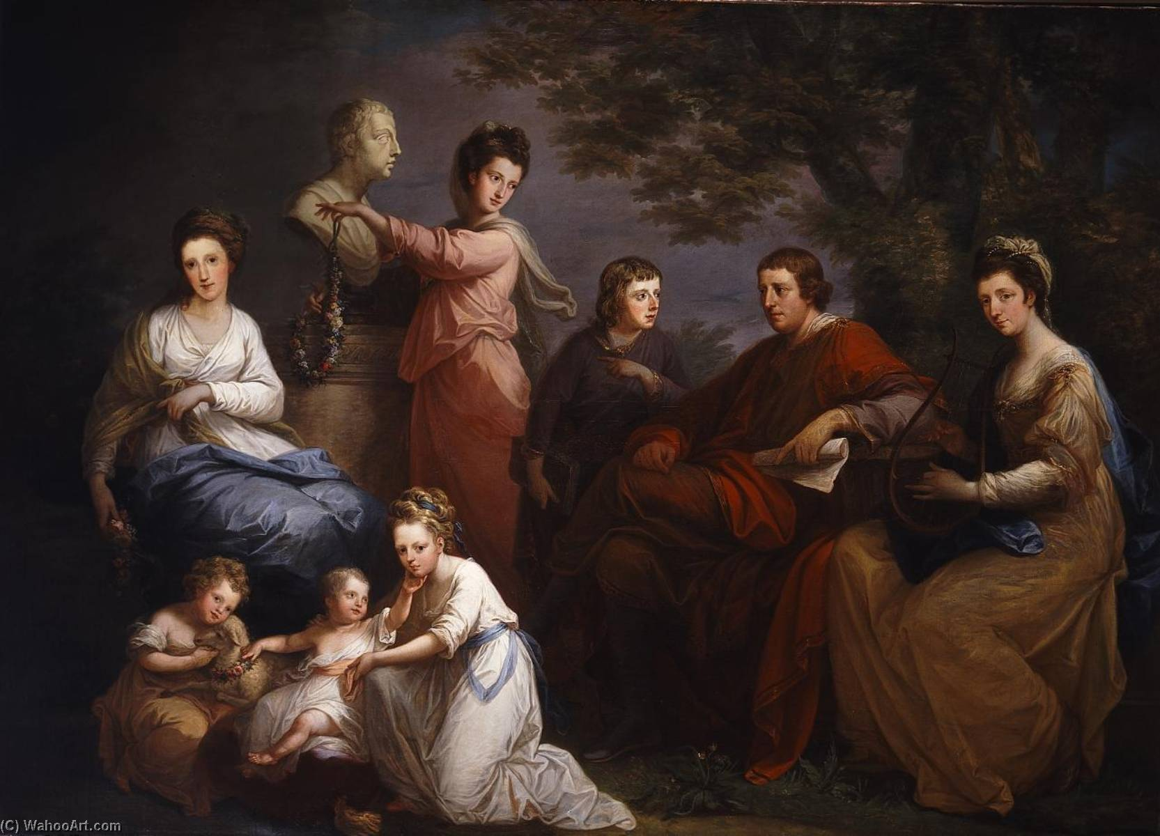 Famous Painting Family Portrait Of The Earl Gower Angelica Kauffman Maria Anna Angelika