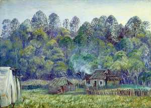 Marianne North - Our Camp on the Bunya Mountains, Queensland