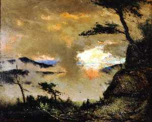 Elliott Daingerfield - Large Landscape (also known as Grandfather Mountain in the Mist)