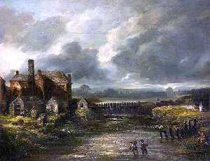 Hugh Frazer - Joy's Paper Mill and River Blackstaff, Belfast