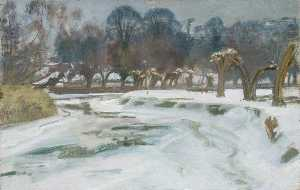 Alfred James Munnings - First Study for 'Frozen River'