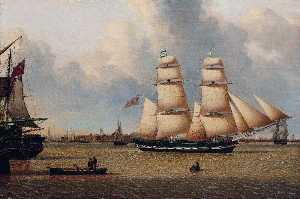John Ward - The Brig 'Helen' off Hull