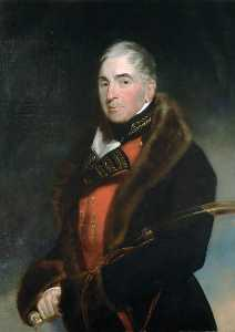 Thomas Lawrence - Lieutenant General (later General) Thomas Graham (1748–1843), Baron Lynedoch, Wearing a Fur lined Coat over General Officer's Uniform