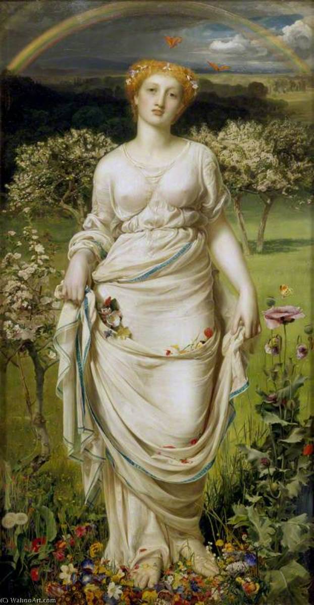 famous painting Gentle Spring of Anthony Frederick Augustus Sandys