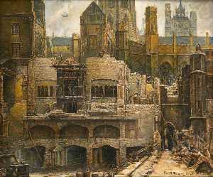 Frank Ernest Beresford - Demolition of the Blitzed House of Commons