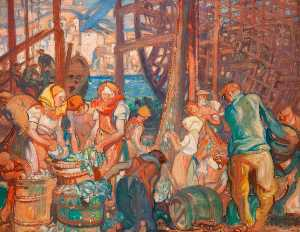 Frank William Brangwyn - A Study for 'Modern Commerce of the Port of Hull'
