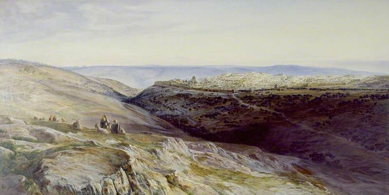 famous painting Jerusalem of Edward Lear
