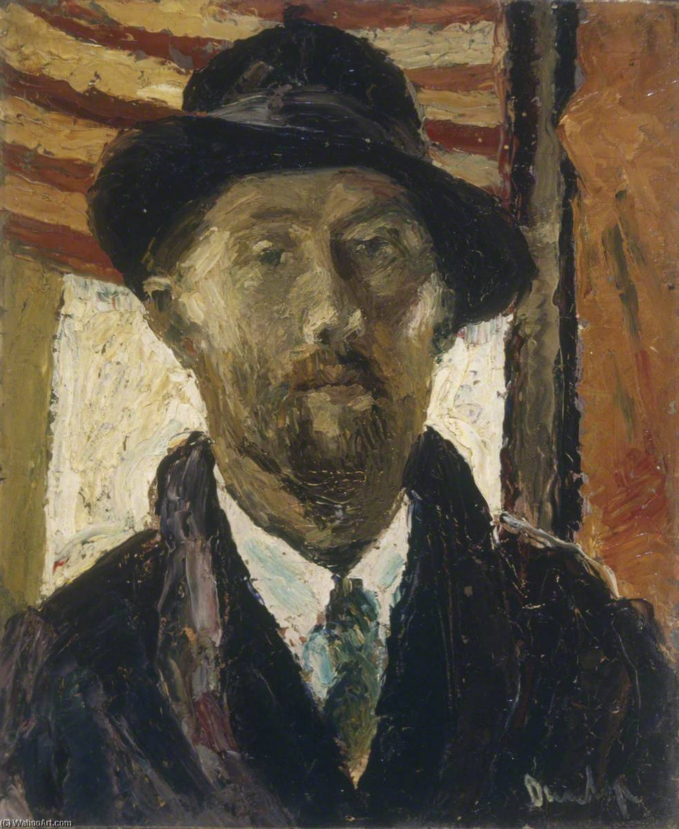 famous painting Portrait of a Man, Bust Length of Ronald Ossory Dunlop
