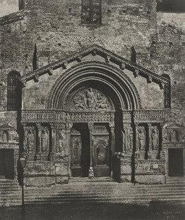Order Museum Quality Copies | Portal of Saint Triomphe, Arles Cathedral by Charles Nègre | Most-Famous-Paintings.com