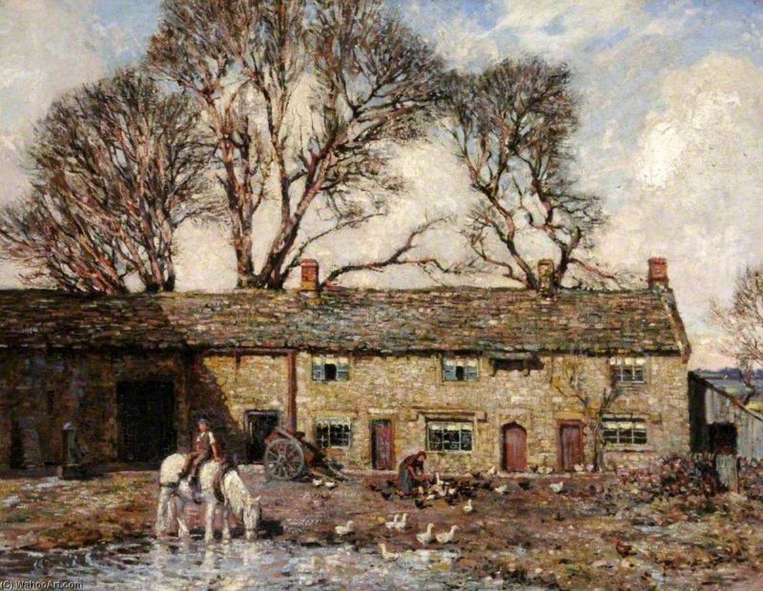 famous painting The Farmyard of Stanley Royle
