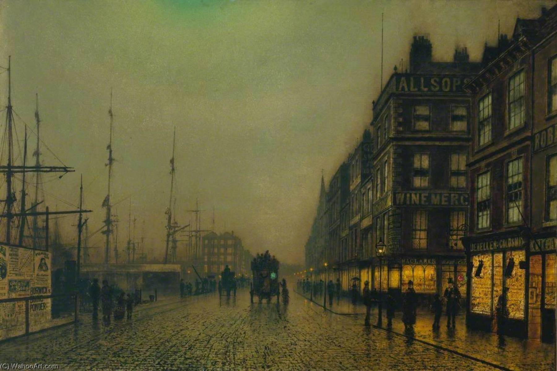 famous painting Liverpool Quay by Moonlight of John Atkinson Grimshaw