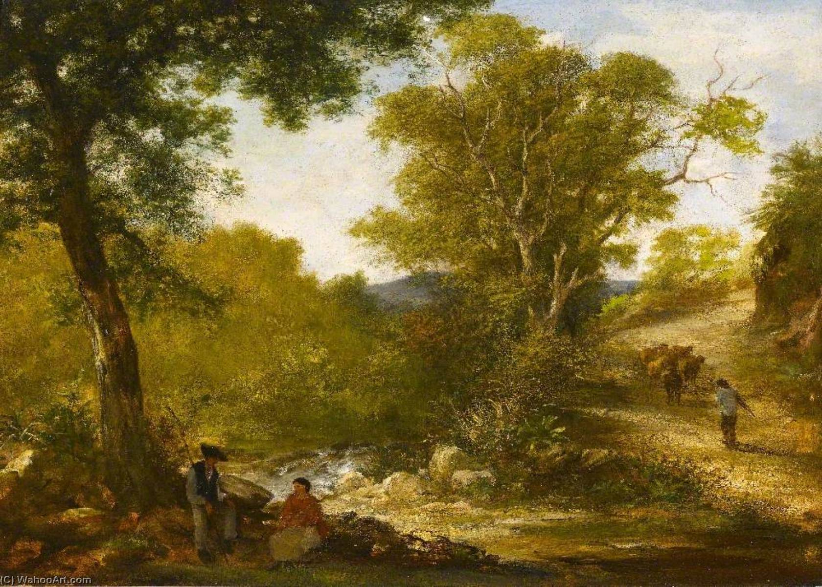 famous painting Landscape in Devon ( ) of Ambrose Bowden Johns