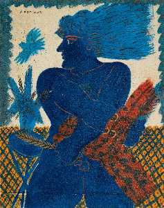 Alecos Fassianos - Athenean with blue bird