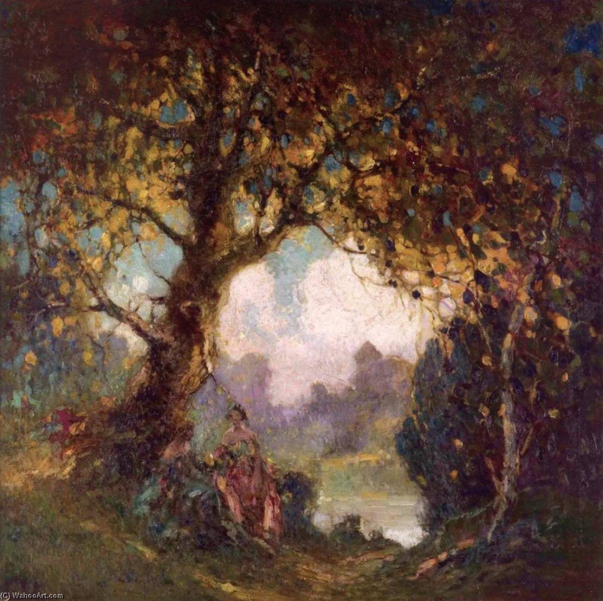 famous painting Indian Summer of Georges Ames Aldrich