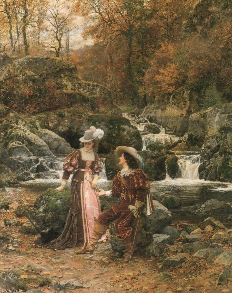 Order Reproductions | The Lovers by Marie Francois Firmin-Girard | Most-Famous-Paintings.com